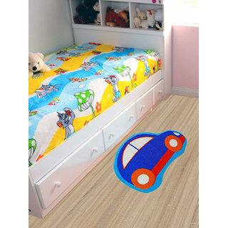 Status Nylon car Shape Door Mats for Kids Room Size 18x28 (Pack of 1)