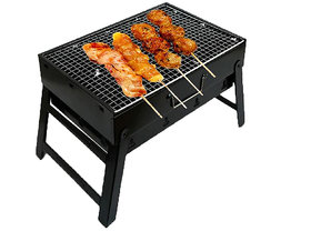 Shopper52 Barbecue Charcoal Grill Folding Portable Lightweight BBQ Tools for Outdoor Cooking Camping Hiking  - BBQSM