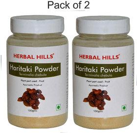 Herbal Hills Haritaki Powder - 100 gms (Pack of 2)