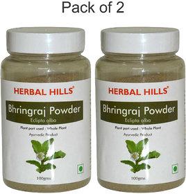 Herbal Hills Bhringraj powder - 100 gms - Pack of 2