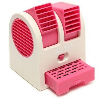 Adjustable Angles USB Electric Air Conditioning Mini Fan Air Cooler Pink