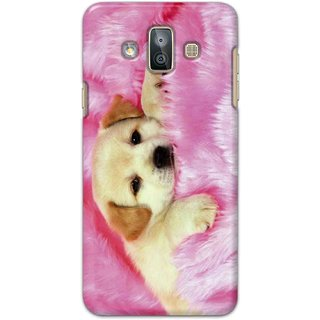 Ezellohub Samsung Galaxy J7 Duo Printed Hard Cover (Dog)