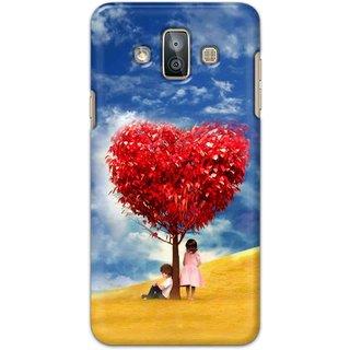 Ezellohub Samsung Galaxy J7 Duo Printed Hard Cover (HEART TREE)