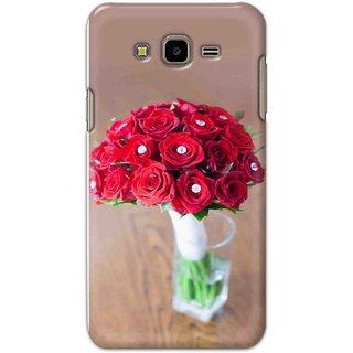 Ezellohub Samsung Galaxy J7 Next Printed Hard Cover (ROSE BUNCH)