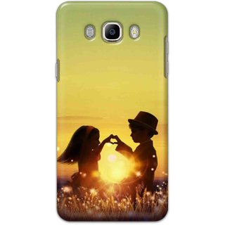 Ezellohub Samsung Galaxy J8 Printed Soft Silicon Cover (Sunrise Love)
