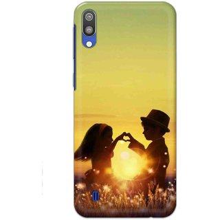 Ezellohub Samsung Galaxy M10 Printed Soft Silicon Cover (Sunrise Love)