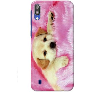 Ezellohub Samsung Galaxy M10 Printed Soft Silicon Cover (Dog)