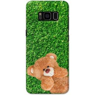 Ezellohub Samsung Galaxy S8 Plus Printed Hard Cover (Teddy Bear)