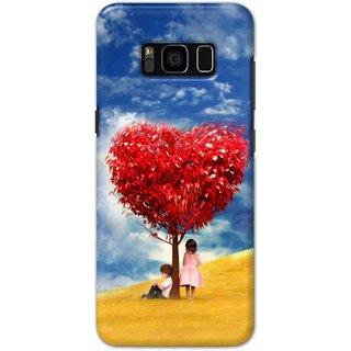 Ezellohub Samsung Galaxy S8 Plus Printed Hard Cover (HEART TREE)