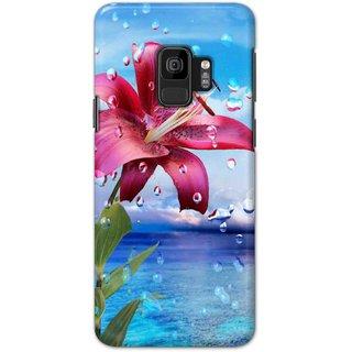 Ezellohub Samsung Galaxy S9 Printed Hard Cover (FLOWER)