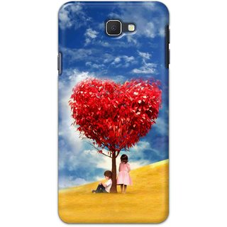 Ezellohub Samsung Galaxy J7 Prime Printed Soft Silicon Cover (HEART TREE)