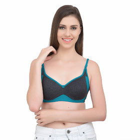 Body Figure Women's Comfort Cotton Sport Bra Juliet Rama Green