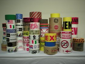 Neo Rising Packaging Tape Random Printed Brand Pattern Pack of 6, Size 5 cm6500 cm (approx)