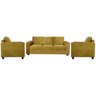 houzzcraft ceylon sofa set (3+1+1) green