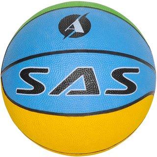 SAS SPORTS Kids Basketball -Multi Colo Basketball for Youth Child Kids Boys Girls (Size 3)