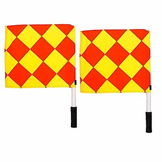 SAS SPORTS Linesman Flags- Durable and Water Proof Linesman Flags for Soccer Football Standard Size -Set of 2