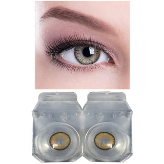 Crystal Eye Hazel Monthly Zero Power Contact Lens and Multi Plus Solution with Storage Box