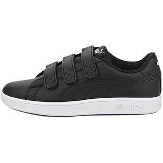 Puma Mens Black Smash v2 V Sneakers