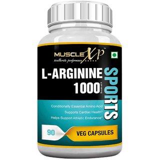 MuscleXP L-Arginine 1000mg - 90 Veg Caps for Athletic Endurance