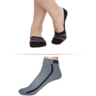 Swaron Pack of Two Cotton Socks for Men and Women