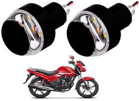 BLUE Motorcycle Handlebar / Turn Signal LED Light Blinker Indicator Handle Bar BLUE -White Color set of 2