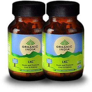 Organic India LKC 60 Pc Capsules Bottle (Pack Of 2)