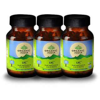 Organic India LKC 60 Pc Capsules Bottle (Pack 0f 3)