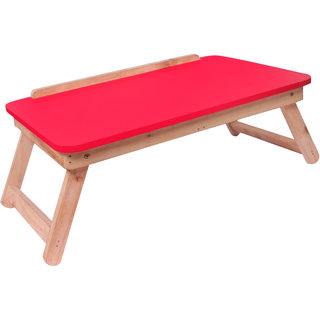 IBS IBS Colorwoodd Sneea Full open foldable Solid Wood Portable Laptop Table (Finish Color -red)