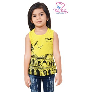 Triki Girls Casual Shirt - Lemon - Size 32 (Age 8 - 9 yrs)