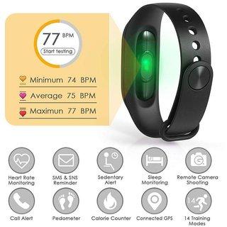 M2 Health Fitness Smart Intelligence Band with Heart Rate Sensor, Pedometer, Sleep Monitoring