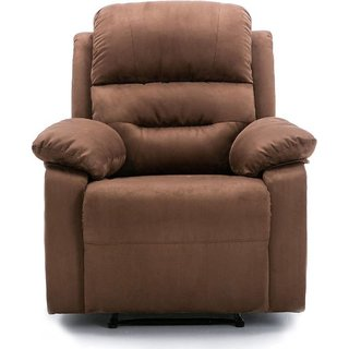 houzzcraft bean one seater recliner brown