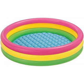 NR Toys Water Tub Inflatable Pool 3 ft Diameter Baby Bath Seat (Multicolor)