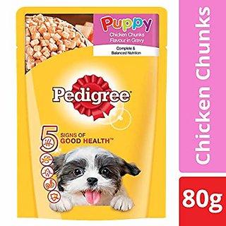 Pedigree Puppy Chicken Chunks Flavour in Gravy Pack of 30