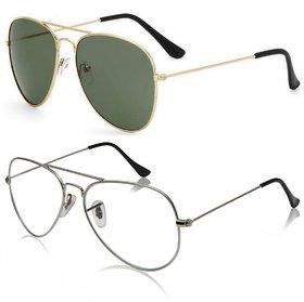 Meia Unisex Aviators Sunglasses