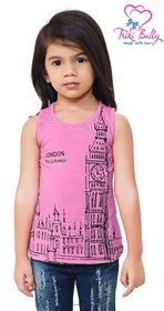 Triki Girls Casual Top - Pink - Size 26 (Age 5 - 6 yrs)