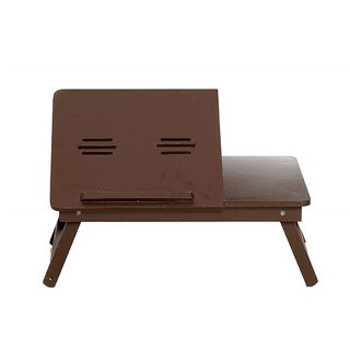 Multi-Purpose FoldablePortable Wooden Bed Table/Study Table/Laptop Table/Kids Activity Table (Walnut Finish)