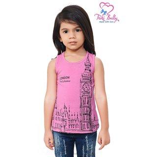 Triki Girls Casual Top - Pink - Size 28 (Age 6 - 7 yrs)