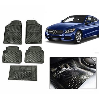 Kunjzone Smoke Transparent  Car Floor/Foot Mat Set Of 5 For Mercedes Benz B Class