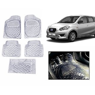 Kunjzone Clear Transparent  Car Floor/Foot Mat Set Of 5 For Daewoo Go