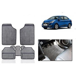 Kunjzone Grey Odourless Car Floor / Foot  Mat Set Of 5 For Hyundai Xcent type 1