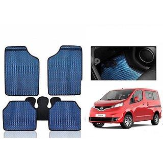 Kunjzone Blue Odourless Car Floor / Foot  Mat Set Of 5 For Nissan Evalia