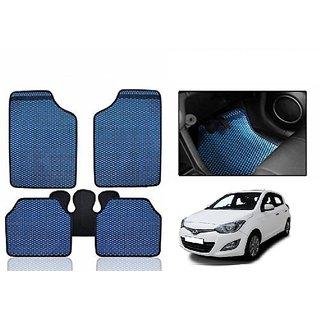 Kunjzone Blue Odourless Car Floor / Foot  Mat Set Of 5 For Hyundai i20