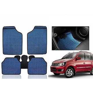 Kunjzone Blue Odourless Car Floor / Foot  Mat Set Of 5 For Mahindra Quanto