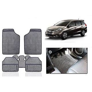 Kunjzone Grey Odourless Car Floor / Foot  Mat Set Of 5 For Honda Mobilio