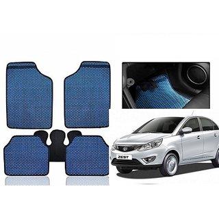Kunjzone Blue Odourless Car Floor / Foot  Mat Set Of 5 For Tata Zest