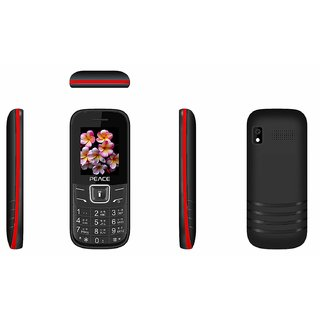 Peace FM1 Dual Sim Multimedia Mobile With FM, Torch Light  Camera With Flash