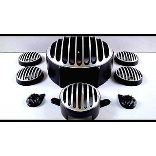 Headlight Grill Chrome and black Diamond for Bullet Enfield 350 500 set of 8