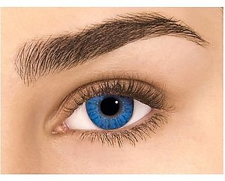 TruOm look Blue Colour Monthly(Zero Power) Contact Lens
