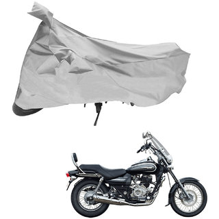 AutoRetail Two Wheeler Polyster Cover for Bajaj Avenger 220 Cruise with Sun Protection (Mirror Pocket Silver Color)