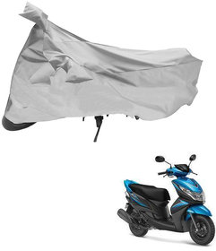 AutoRetail Dust Proof Two Wheeler Polyster Cover for Yamaha Ray Z (Mirror Pocket, Silver Color)